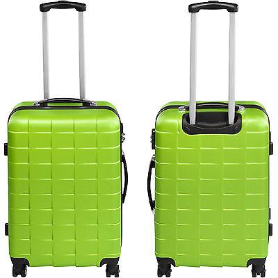 Set 3 Maletas ABS Juego de Maletas de Viaje Trolley Rígidas Verde con Candado 4