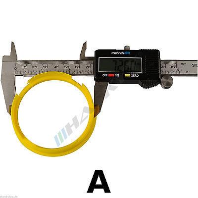 KIT Anelli di Centraggio 4 pezzi Esterno 66.6mm Interno 57.1mm verso mozzo