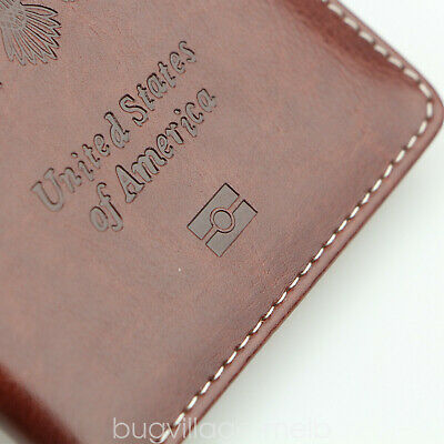 Travel Leather Passport Organizer Holder Card Case Protector Cover Wallet US 9