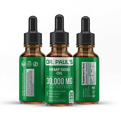Hemp Oil Drops For Pain Relief, Stress , Anxiety, Sleep - 4 PACK 30,000 mg 2