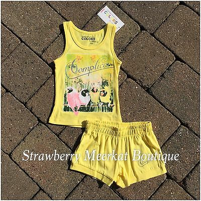 New Girls French Designer Complices Tank Outfit Vest Top Shorts Age 2 3 4 5 6 8 4