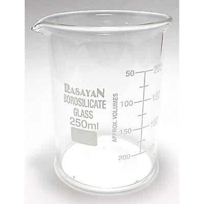Glass BEAKER Graduated Low Form Research Grade Borosilicate, 6 sizes, 1/5/10 pcs 5