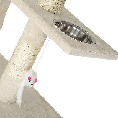 Arbre à chat xxl griffoir grattoir geant avec 2 grottes beige 4