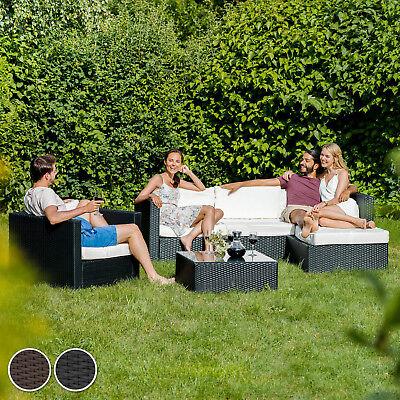 Ensemble Salon de jardin Résine Tressée Acier Poly Rotin Canapé noir neuf