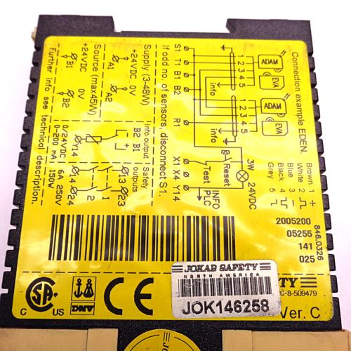 JOKAB SAFETY VITAL1 VER C 24VDC SAFETY RELAY