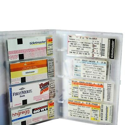 Concert Ticket Collection Album, 10 Ticket Pages Included, Holds 40-80 Tickets 2