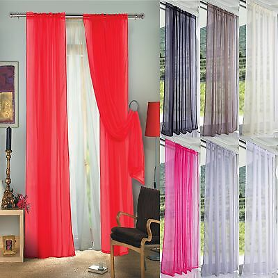 Pair (2 Panels) Of Lucy Voile Slot Top Panels -Top Quality Net & Voile Curtains 2