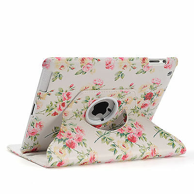 360 Rotating Leather Smart Cover Case for iPad 6th Gen iPad 5 4 3 2 Air mini 11