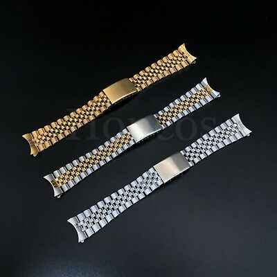 19 20 21MM President jubilee Watch Band Bracelet Fits for Rolex Stainless Silver 3