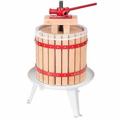 Pressoir à baies fruit jus manuel presse mécanique pommes vin bois de chêne 12 L 4