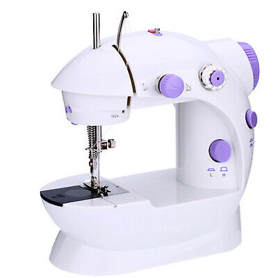 Portable Electric Sewing Machine Overlock 2 Speed LED Mains Powered Foot Pedal 6