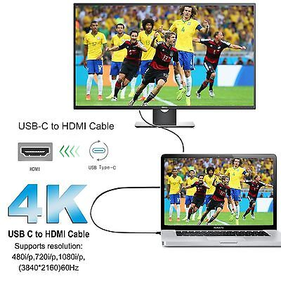 USB-C Type C USB 3.1 Male to HDMI Female Adapter Cable For LeTV Phone MacBook 12 7