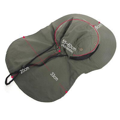 Boonie Mens Hat Brim Ear Neck Cover Sun Flap Cap Visor Fishing Garden Outdoor 2