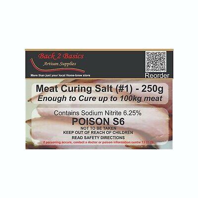 Meat Cure Salt #1 (6.25%) -250g Jerky Ham & bacon, Insta-cure, pink salt, Curing 2