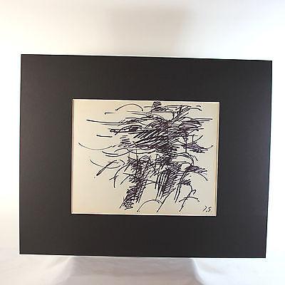 Original Tinta sobre Papel Dibujo por Francesa Lista Artista Jacques Germain ( 3
