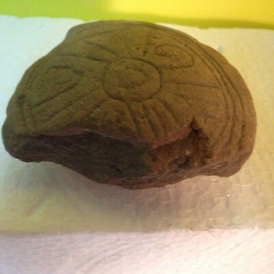 Ancient Authentic Zapotec Pre-Columbian Clay Carved 2