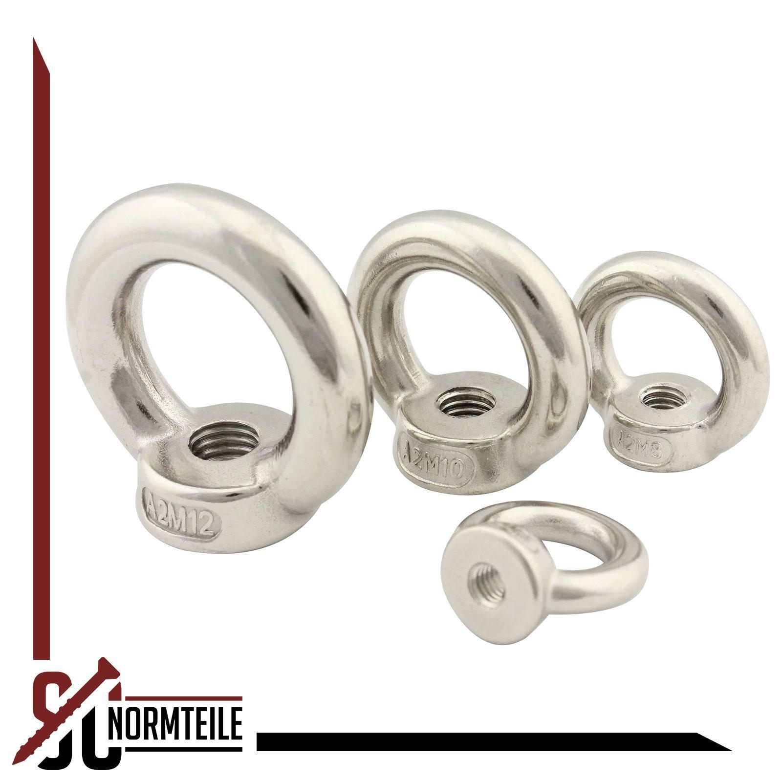 Eisenwaren2000 M10 /Ösenmutter 5 St/ück DIN 582 gegossen und poliert Edelstahl A2 V2A - Ringmutter /ähnl rostfrei