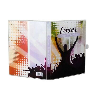 Concert Ticket Collection Album, 10 Ticket Pages Included, Holds 40-80 Tickets