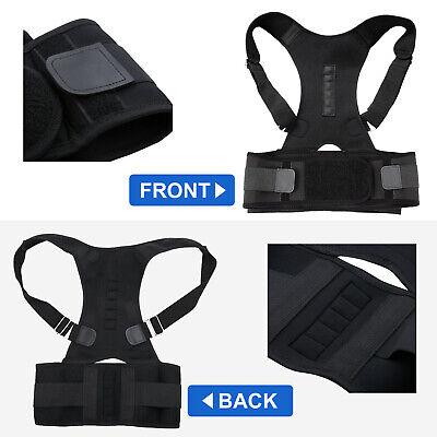 Posture Corrector Clavicle Shoulder Brace Lower Back Support Magnetic Men Women 10