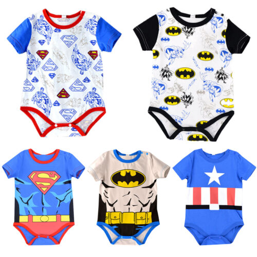 cb4f6ca72 NEWBORN BABY BOYS Girls Marvel Hero Cute Romper Jumpsuit Bodysuit ...