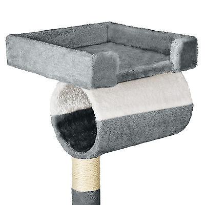 Arbre à chat griffoir grattoir geant avec hamac lit 141 cm hauteur gris blanc 3