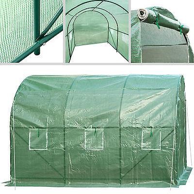 Invernadero de jardín vivero casero plantas cultivos carpa de plástico túnel 5