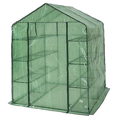 Invernadero de jardín con estante vivero casero plantas cultivos 143x143x195cm N