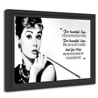 Wandbild Audrey Hepburn schulterfreies Kleid schwarz Handschuhe Zigarettenhalte
