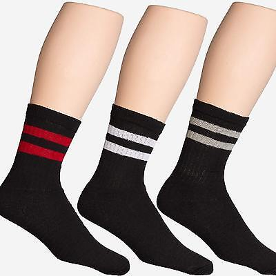 1 Dozen 12 Pairs Classical Retro Old School Shoes Stripes Athletic