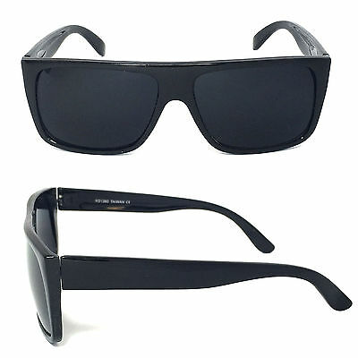 5fd1681629c ... Retro Square Frame Sunglasses Mens Womens Flat Top Square Super Dark  Lens 2