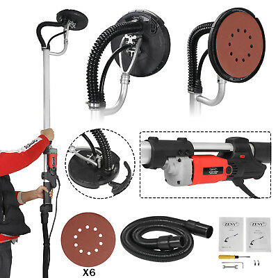 Electric 800W Variable Speed Drywall Sander w/ Vacuum Hose & Sander Discs 3