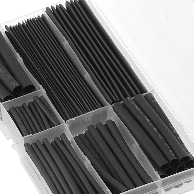 150 Pcs Black Heat Shrink Heatshrink Wire Cable Tubing Tube Sleeving Sleeve Wrap 2