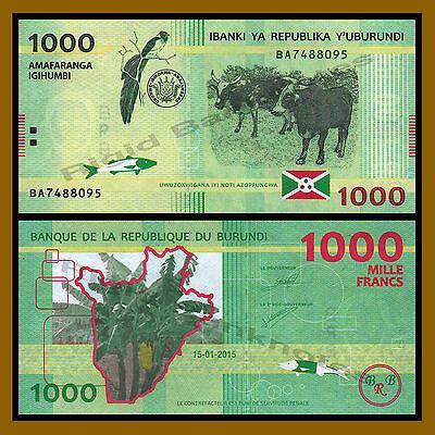 BURUNDI 500 FRANCS 2015 P 50 UNC LOT 10 PCS