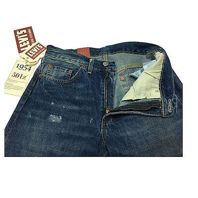 6aac56ce ... LEVI'S VINTAGE CLOTHING jeans uomo mod 501z 1954 STONE con zip 100%  cotone 5