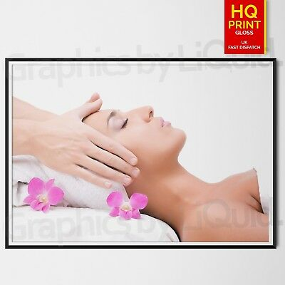 SALON Nail Beauty MAKE UP SPA Barber Hairdresser MANICURE Pedicure POSTER A4-A2 6