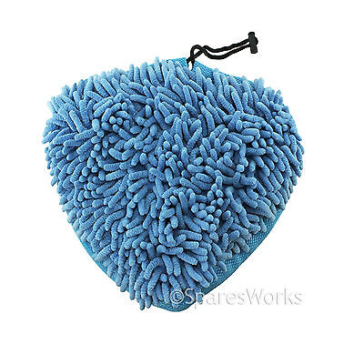 4 x Microfibre Steam Mop Pads to fit Wolf 1500W Super H2OT 10 in 1 Steam Cleaner