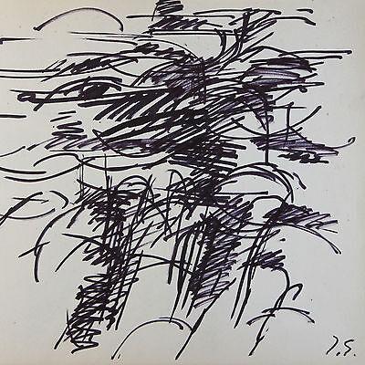 Original Tinta sobre Papel Dibujo por Francesa Lista Artista Jacques Germain ( 2