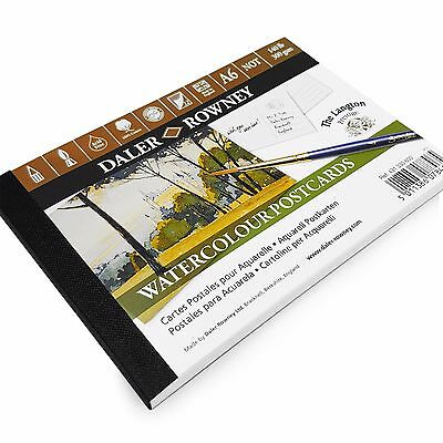 Daler Rowney Watercolour Painting Postcards A6 - 12 x 300gsm Sheets - Made in UK 4