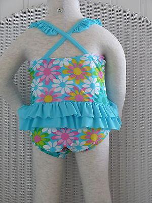 Details about  /Circo Swimsuit Cover Up set Aqua Blue Floral Bathing Swim Suit 12M Terrycloth