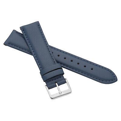 MARCHEL Lederarmband LLB Premium Glatt Silber Gold Schließe Uhrenarmband Uhr 3