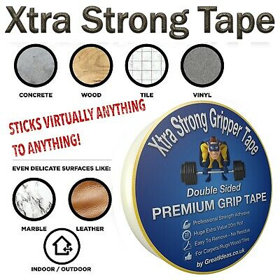 Strong Double Sided Tape Bonding Adhesive Carpet Rug Gripper Mounting Heavy Duty 2