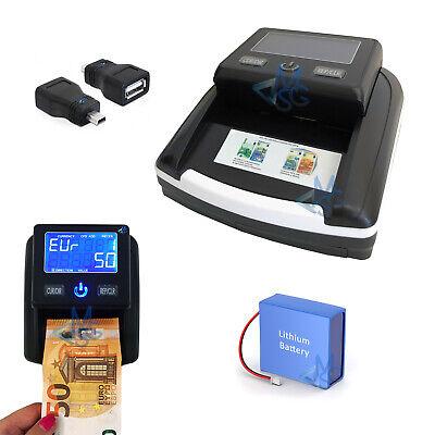 Contabanconote da banco Rilevatore banconote false Aggiornato 2019 con Batteria 2
