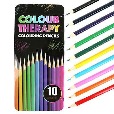 10 18 30 Premium Adult Colouring Pencils  Artists Quality Colour Therapy in Tin 2