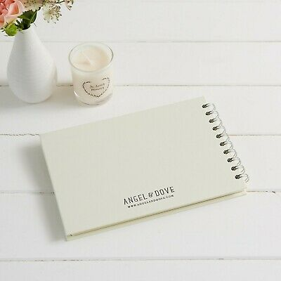 A5 Luxury Ivory Memory Book & 2 Signs Set - Funeral, Condolence Book, Memorial 9