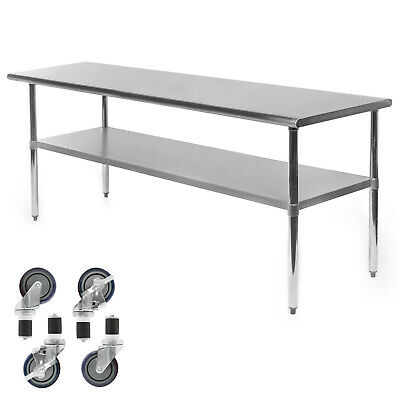 "Stainless Steel Work Table14/"" x 48/"" Food Prep NSFUtility Work Station"