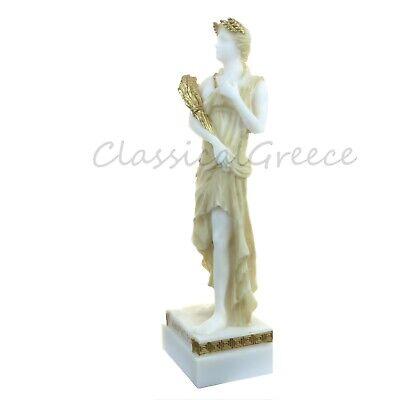 """Statue Ancient Greek Goddess Demeter Alabaster 9"""" - 23cm Cast Marble Mythology 2"""