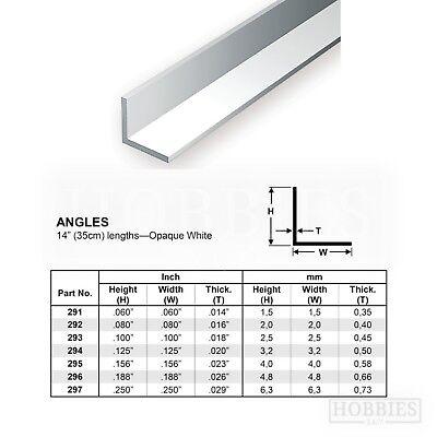Evergreen Strip Styrene Rods Tubes Angles Model Scratch Building Plastic Build 3