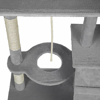 Arbre à chat xxl griffoir grattoir geant avec 2 grottes anthracite gris 6