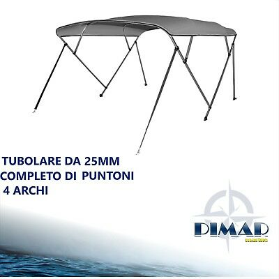 Tendalino 4 archi BEST PRICE in alluminio Ø25mm  barca, gommone-160 /170/180/190 4