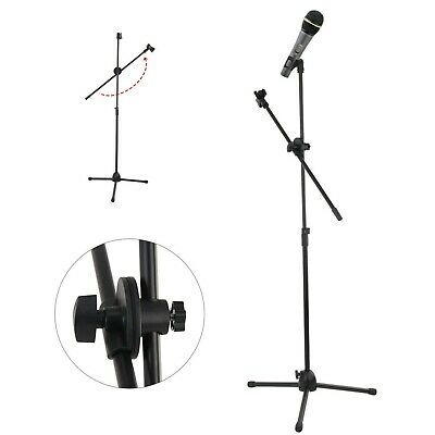Professional Boom Microphone Mic Stand Holder Adjustable With Free Clips New 6